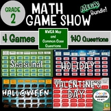 2nd Grade Math Game Show Four Game Bundle for NWEA MAP and Common Core practice