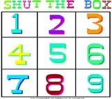 Math Game - Shut the Box - Addition or Multiplication Dice Game