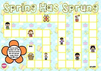Spring Has Sprung (Spring Game Board)