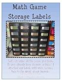 Math Game Storage Labels