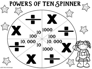 Math Game: Super Powers of Ten Place Value Math Game