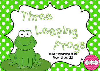 Three Leaping Frogs Subtraction Math Game Board