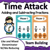 Math Game Time Attack Adding and Subtracting Fractions  50% off first 48hr