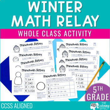 Math Game for 5th Grade Review | Decimals, Operations