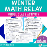 Winter Math Game for 5th Grade | Decimals, Multiplication, Division