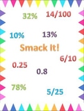 Math Game for Fractions, Percents and Decimals~ Smack It!