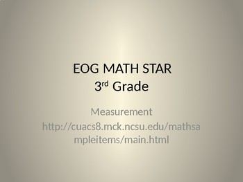 Math Game for Grade 3 Measurement (PowerPoint)