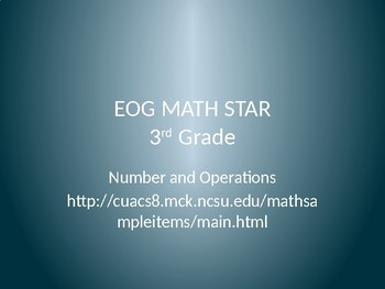 Math Game for Grade 3 Numbers and Operations (PowerPoint)