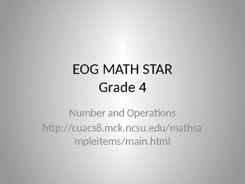 Math Game for Grade 4 Numbers and Operations (PowerPoint)