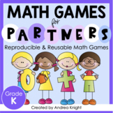 Math Games for Kindergarten (Low-Prep Reusable Games for Partners)