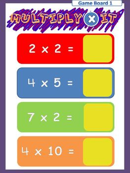 Math Game for Multiplication Facts