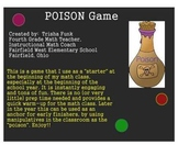 "Math Game for the Beginning of the Year - ""Poison"""