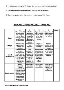 Math Gameboard Project: A Common Core math review project