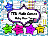 10 No-Prep Math Games: Addition Subtraction Multiplication Division Base Ten