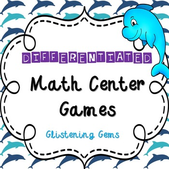 First Grade Addition Math Game - Center