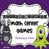 October Math Center - Monster Math Games - Addition & Multiplication
