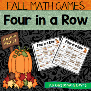 Fall Math Center - Connect 4 - Numbers 1-20, Number Sense, Tens Frames