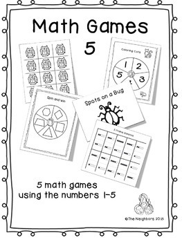 Math Games 5 ( 5 math games using numbers 1-5)