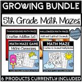 Fun Math Activities 5th Grade Growing Bundle