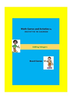 Math Games: Adding and Subtracting Integers Board Games