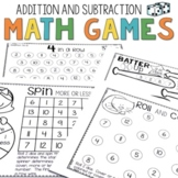 Dice Math Games Addition & Subtraction
