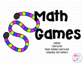 Math Games: Addition, Subtraction, Teen Numbers