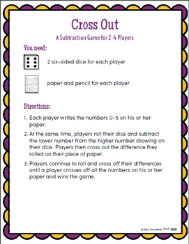 Math Games Addition and Subtraction K-2 {Pack 1} (Math Fact Fluency)