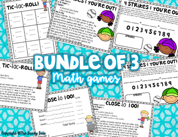 Math Games: Addition (for big kids) Bundle of 3