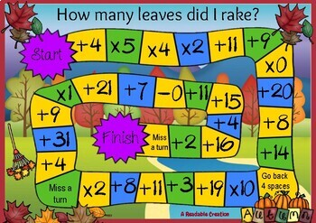 Math Games - Autumn Theme