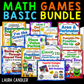 Math Games Basic Bundle - Math Games for 3rd Grade
