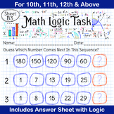 Math Games | Brain Teasers | Number Series Game for 10th,