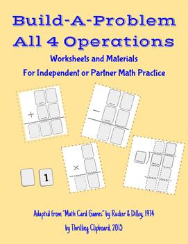 Math Games: Build-A-Problem All 4 Operations Bundle