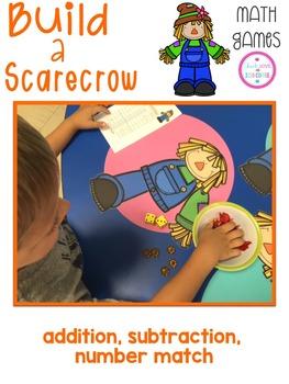 Math Games - Build a Scarecrow