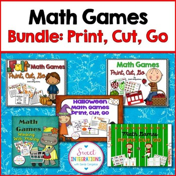 MATH GAMES Bundle 1 (MATH CENTERS)
