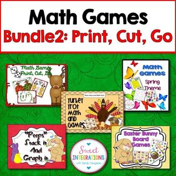 MATH GAMES Bundle 2 (MATH CENTERS)