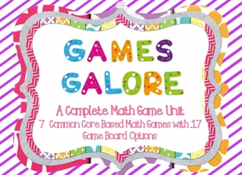 Math Games Bundle Complete with 19 Game Boards