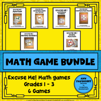 Math Games Bundle Grade 2