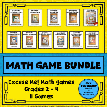 Special Introductory Price Math Game Bundle Grade 3