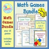 Math Games Math Centers Bundle