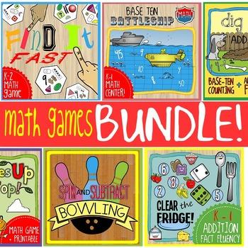 Math Games Bundle: K - 1 Math Games & Centers
