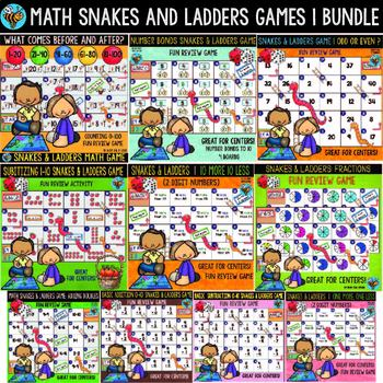Math Games Bundle | Snakes and Ladders