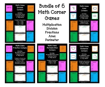 Math Games - Bundle of 5 Games
