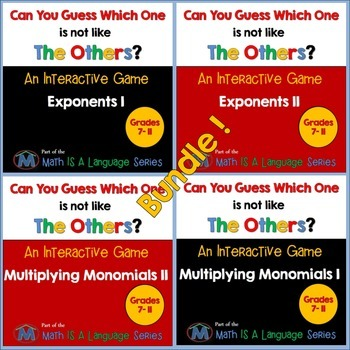 Math Games - Can you guess which one? - Bundle II
