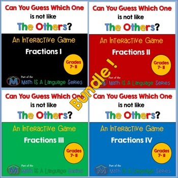 Math Games - Can you guess which one? - Bundle III