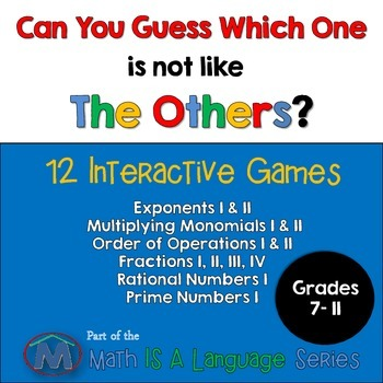 Math Games - Can you guess which one? - Bundle IV