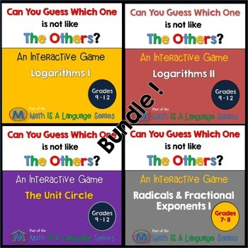 Math Games - Can you guess which one? - Bundle V
