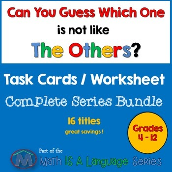 Math Games - Can you guess which one? - Complete Bundle VI - print series
