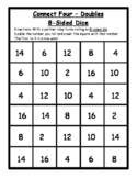 Math Games - Connect Four Doubles Dice Game - 8-Sided Dice- Math Dice Games