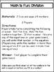 Math Games:  Division Games
