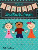 Math Games Feedback Form
